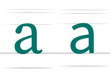 illustration of double-storey, lowercase a