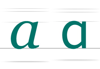 illustration of single-storey, lowercase letter a